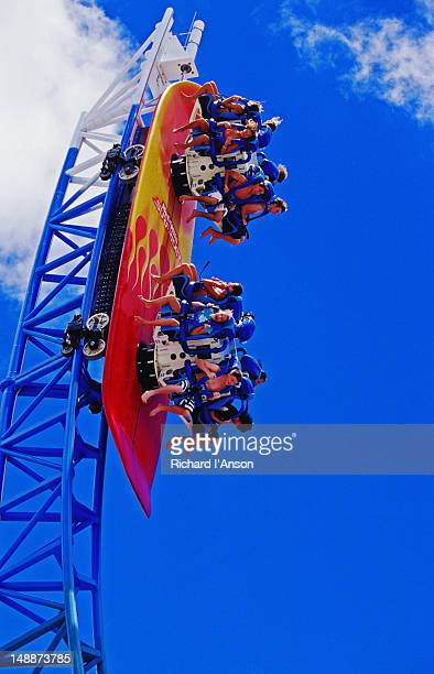 Thrill ride at Movie World theme park.