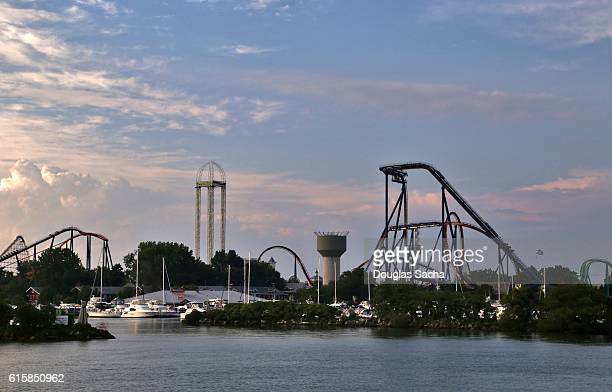 Thrill rides and Rollercoasters, Cedar Point Amusement Park, Sandusky, Ohio, USA
