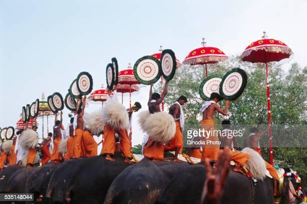 Thrissur Pooram festival in Kerala, India.
