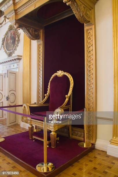 throne for king george iv in dublin castle - dublin castle dublin stock pictures, royalty-free photos & images