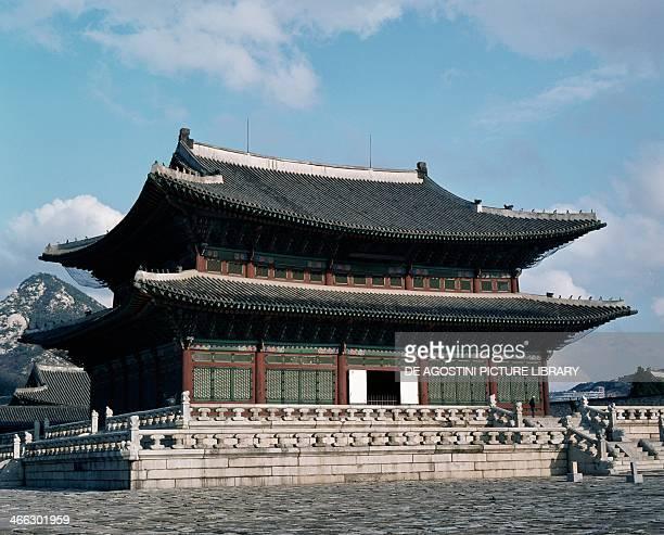 Throne Hall Gyeongbokgung Palace Seoul South Korea the 14th century