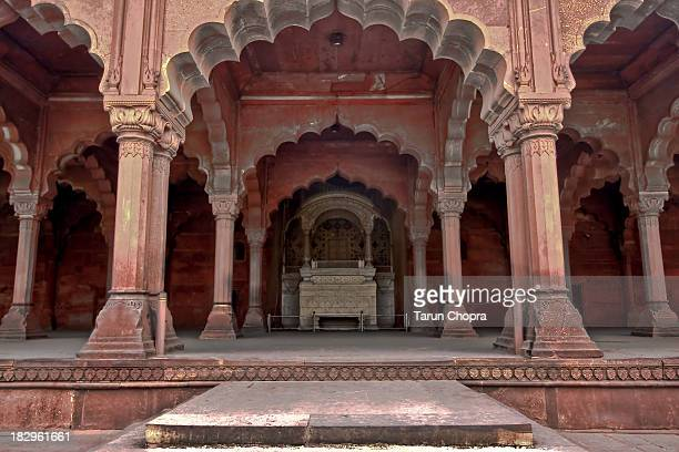 Throne Inside Red Fort Delhi