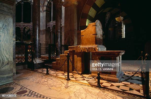 Throne of Charlemagne Palatine Chapel Aachen cathedral North RhineWestphalia Germany