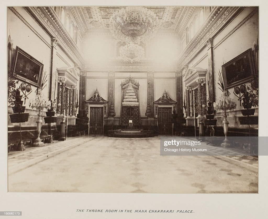 Throne Room In The Maha Chakrakri Palace From Photograph