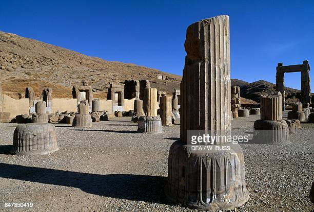 Throne room or Room of a Hundred Columns Persepolis Iran Achaemenid civilisation 5th century BC