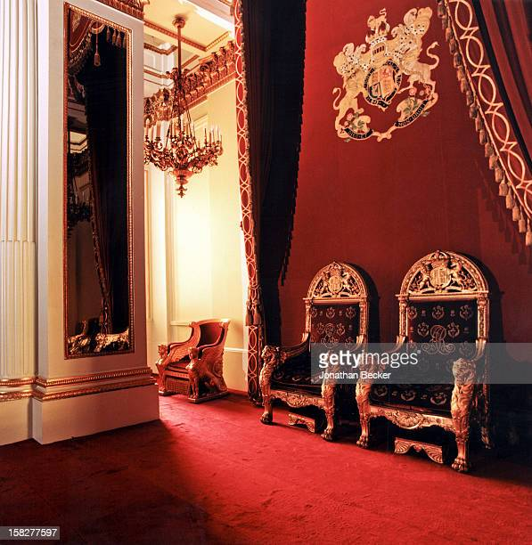 Thrones are photographed for Vanity Fair Magazine on June 21 2003 at Buckingham Palace in London England PUBLISHED IN JONATHAN BECKER 30 YEARS AT...
