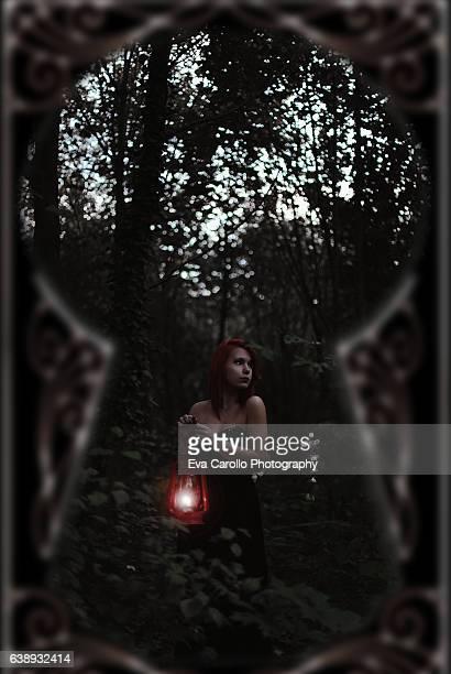 through my dreams - peeping holes ストックフォトと画像