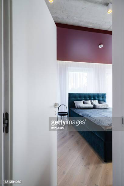 through the bedroom door - ajar stock pictures, royalty-free photos & images