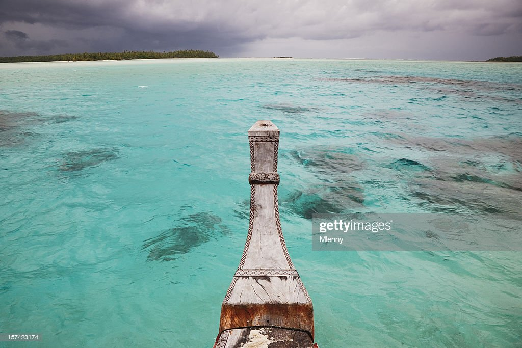 Through the Cook Islands Waters : Stock Photo