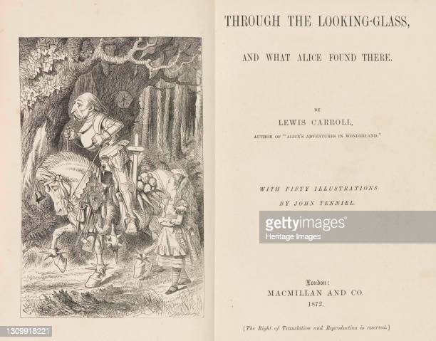 Through the Looking-Glass by Lewis Carroll, 1868-1870. Private Collection. Artist Tenniel, Sir John . .