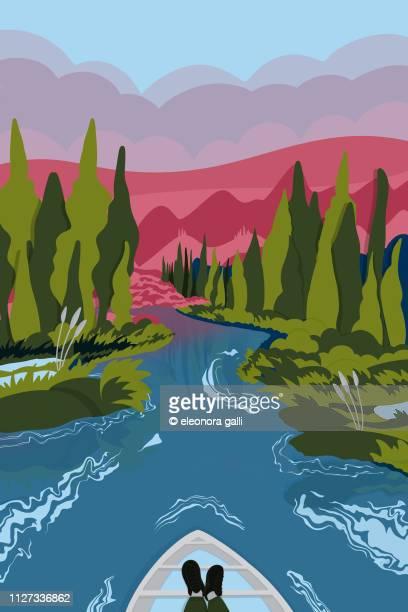 Through the river