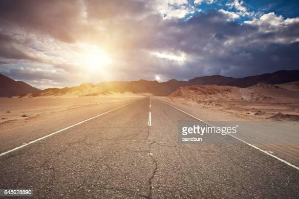 through the Sinai desert road