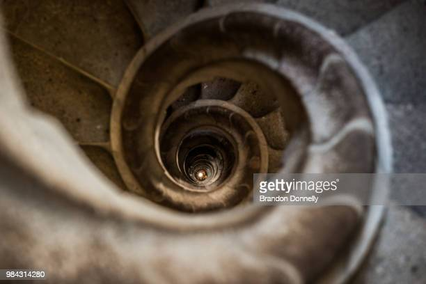 through the wormhole - antonio gaudi stock pictures, royalty-free photos & images