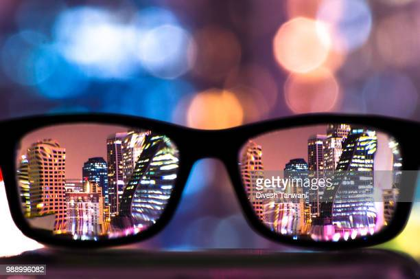 through them eyes - myopia stock photos and pictures