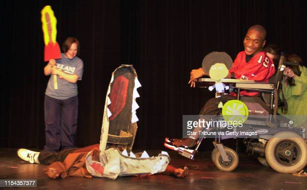 MINNEAPOLIS MN 5/29/2002 Throughout their school lives their disablities kept them sequestered in special classes But on Wednesday kids in the WRAP...