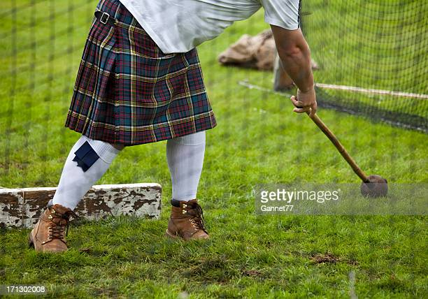 Throwing the Hammer at Highland Games, Scotland