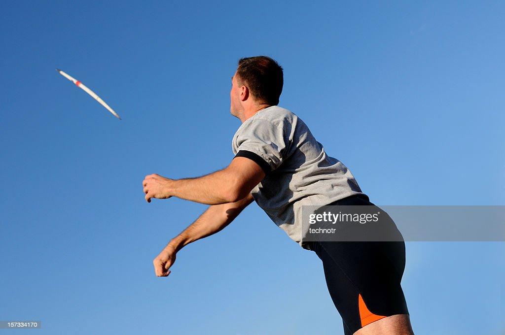 Throwing the javelin : Stock Photo