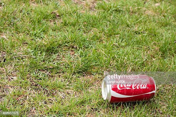 Gaspillées peut de Coca-Cola