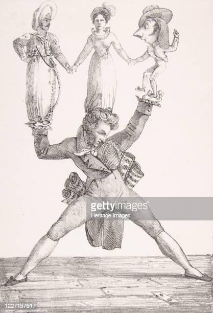Th��tre Italien 1821 Composer Gioacchino Rossini with characters Figaro Rosina and Othello Artist Eugene Delacroix