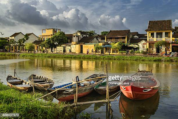 Thu Bon river in Hoi An, Vietnam