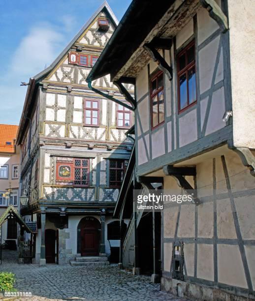 Thueringer Fachwerkhaus Buechnersches Hinterhaus 1596 im hennebergischfraenkischen Baustil in Meiningen errichtet seit 1766 in Besitz von Baecker...