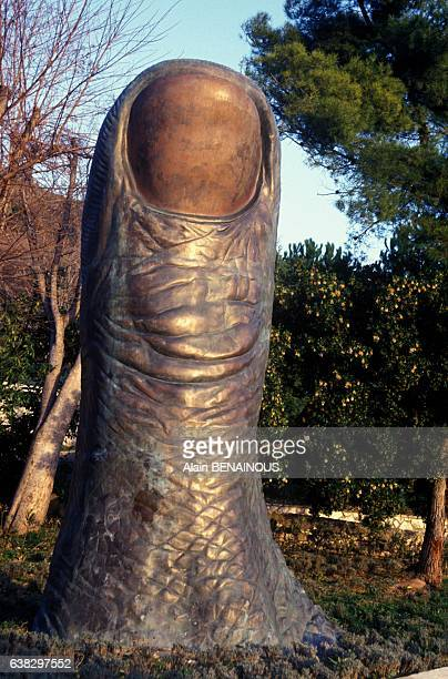 Thumb by sculptor César at Pierre and Marianne Nahon's castle gallery NotreDamedesFleurs in Vence France on January 5 1994
