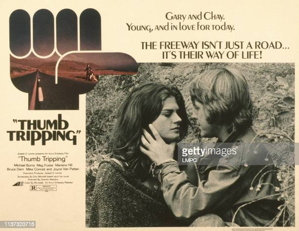 Thumb Tripping poster US poster from left Meg Foster Michael Burns 1972