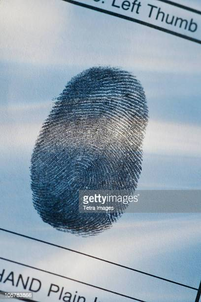 thumbprint - criminal investigation stock pictures, royalty-free photos & images