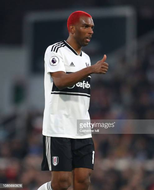 A thumbs up from Ryan Babel of Fulham during the Premier League match between Fulham FC and Tottenham Hotspur at Craven Cottage on January 20 2019 in...