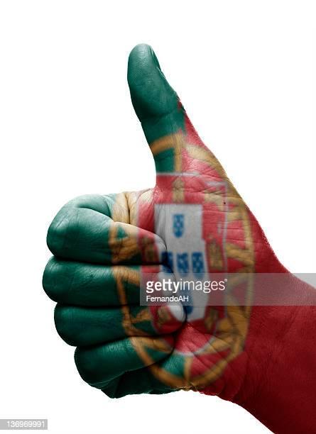 polegares para cima, portugal - bandeira de portugal imagens e fotografias de stock