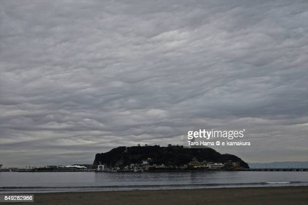 Thunder clouds on Enoshima Island and Sagami Bay