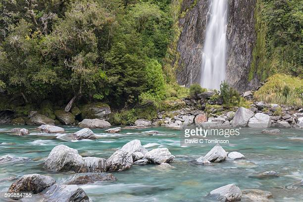 Thunder Creek Falls, Haast Pass, Mount Aspiring NP