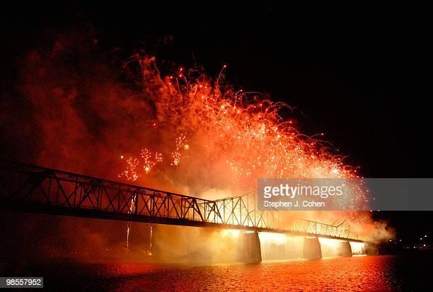 Thunder Over Louisville fireworks show on April 17 2010 in Louisville Kentucky