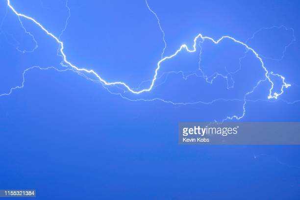 Thunder over the night sky.