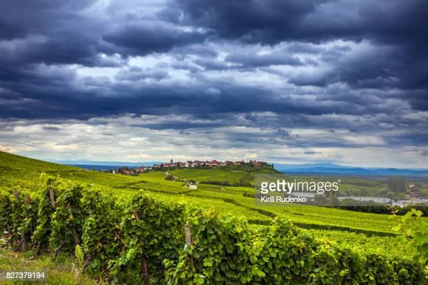 Thunder over the village of Zellenberg, Alsace, France
