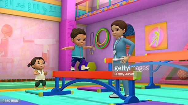 OSO 'Thunderbeam' With help from Oso and her gymnastics coach Leah learns to walk on the balance beam Olympic gold medalist Mary Lou Retton guest...