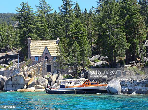 Thunderbird Lodge is located on the east shore of Lake Tahoe. About 5 miles South of Incline Village, NV. Thunderbird Lodge is a local Tahoe landmark...