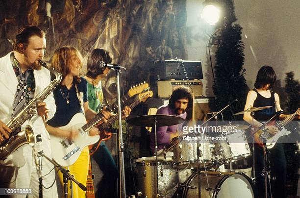 Thunderclap Newman perform live on stage at Kasteel Groeneveld in Baarn Netherlands in 1971 Andy Newman on sax John 'Speedy' Keen on guitar Jimmy...