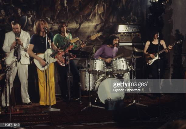 Thunderclap Newman perform live on stage at Kasteel Groeneveld in Baarn Netherlands in 1971 Andy Newman on sax John 'Speedy' Keen on guitar Ronnie...