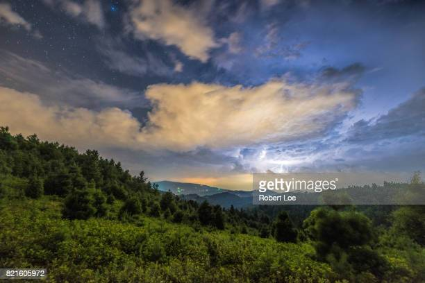thunderhill - blue ridge parkway stock pictures, royalty-free photos & images