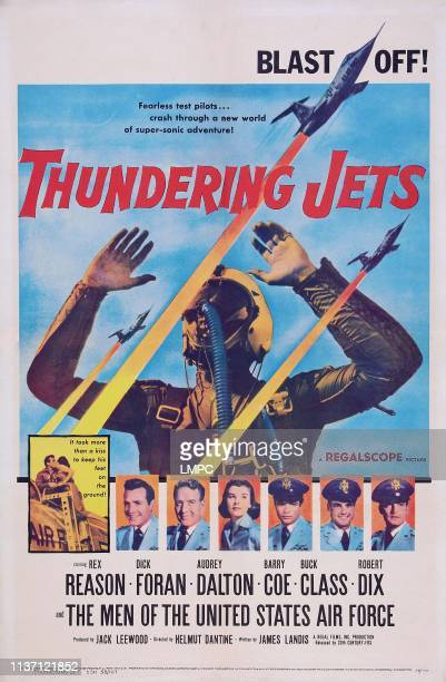 Thundering Jets poster US poster bottom from left Rex Reason Dick foran Audrey Dalton Barry Coe Buck Class Robert Dix 1958