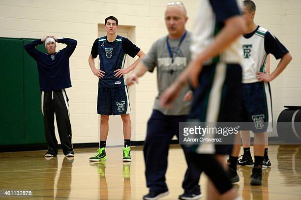 ThunderRidge high School center Zach Pirog is a 6-10 standout for the No. 2 ranked Grizzlies. Pirog was photographed during practice on Monday,...