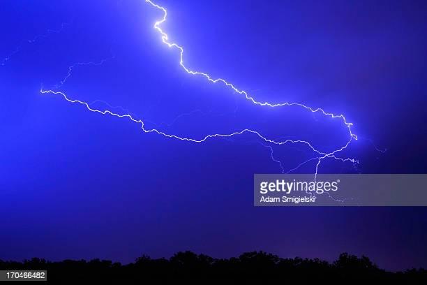 thunderstorm in the rain