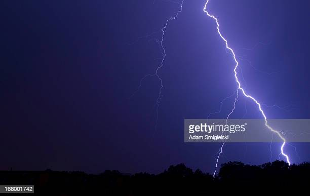 thunderstorm - bolt stock photos and pictures