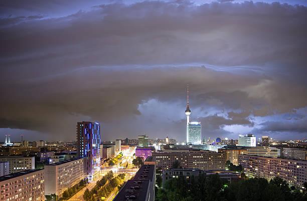 Thunderstorm With Berlin Skyline Wall Art