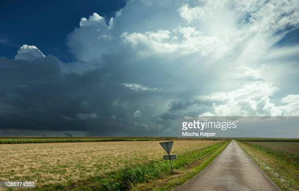 Thunderstorms travelling over Rilland, Zeeland, Netherlands