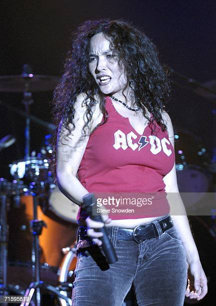 ThundHerStruck lead vocalist Dyna Shirasaki performs at Route 66 Casino's Legends Theater on August 5 2006 in Albuquerque New Mexico The allgirl...