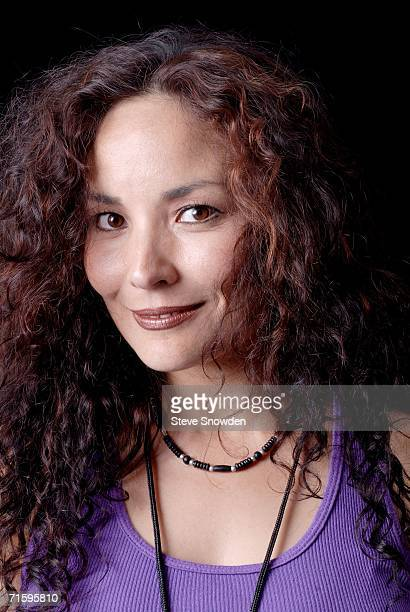 ThundHerStruck lead vocalist Dyna Shirasaki poses backstage at Route 66 Casino's Legends Theater on August 5 2006 in Albuquerque New Mexico The...