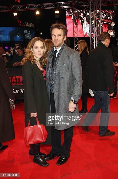 "Thure Riefenstein And friend Patricia Lueger at the Premiere Of ""Valkyrie - The Stauffenberg assassination"" in the theater at Potsdamer Platz in..."