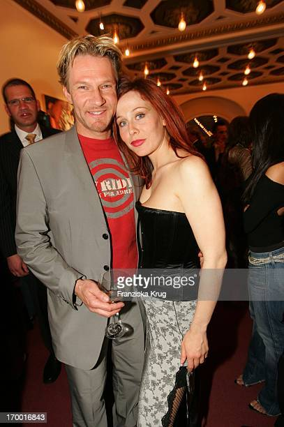"Thure Riefenstein And girlfriend Patricia Lueger at The Premiere Of The Musicals ""The 3 Musketeers"" at Theater des Westens in Berlin.."